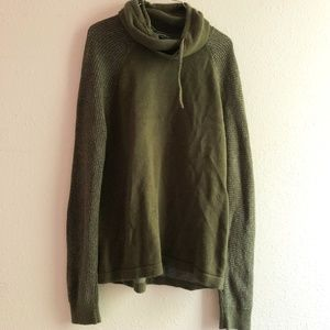 Mens Express Cowl Neck Hoodie Size L